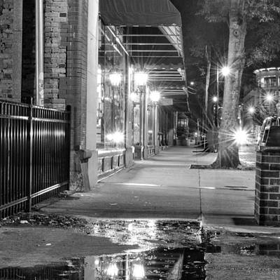 Rain Photograph - After A Wilmington Rain In Black And White by Greg Mimbs