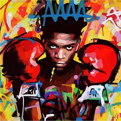 Digital Art - After Basquiat Four by Gary Grayson