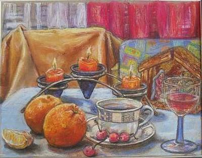 Gordana Dokic Segedin Drawings Drawing - After Christmas Morning by Gordana Dokic Segedin