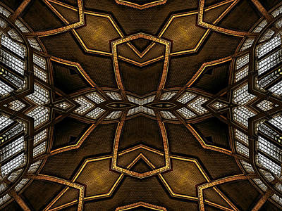 Kaleidoscope Digital Art - After Deco 11 by Wendy J St Christopher