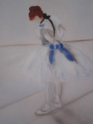 Rehearsing Painting - After Degas Ballerina Rehearsing by Maro Kirby