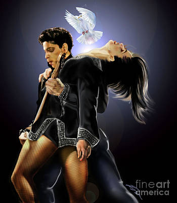 Painting -  After Doves Cry They Fly Prince by Reggie Duffie