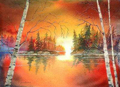 Painting - After Glow by Marilyn Jacobson