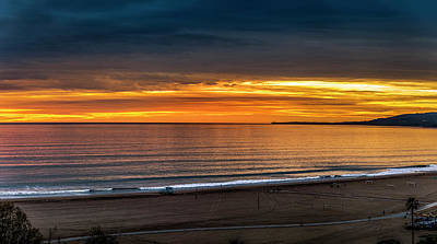 Photograph - After Glow - Sunset Over The Bay - Panorama by Gene Parks