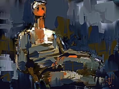Digital Art - After Henry Moore 3 by Jim Vance