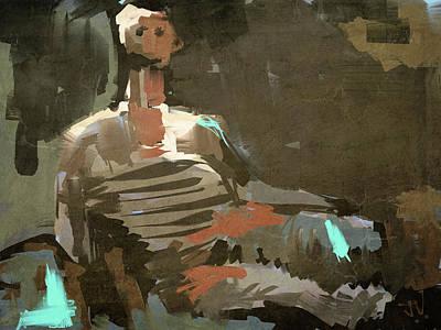 Digital Art - After Henry Moore by Jim Vance