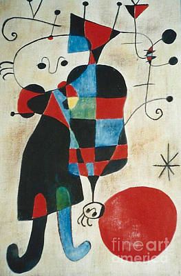Painting - after Joan Miro by Jodie Marie Anne Richardson Traugott          aka jm-ART