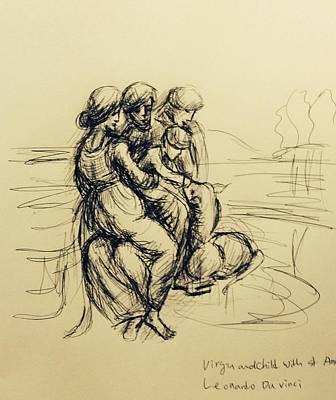 After Leonardo Da Vinci  Art Print
