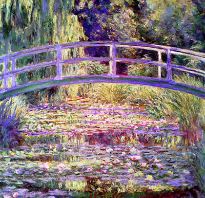 After Monet Water Lily Pond Art Print
