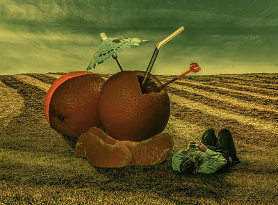Lying Mixed Media - After Office Hours by Solomon Barroa