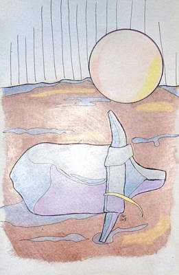 Drawing - After Play by Loretta Nash