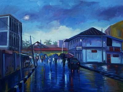 After Rain Art Print by Aderonke ADETUNJI