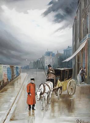 After Rain - Chelsea Art Print by Augustus Mulready