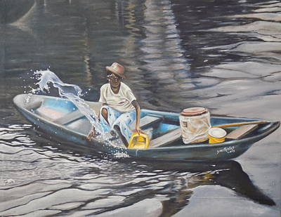 Indiana Rivers Painting - After Rain Experience by Olaoluwa Smith