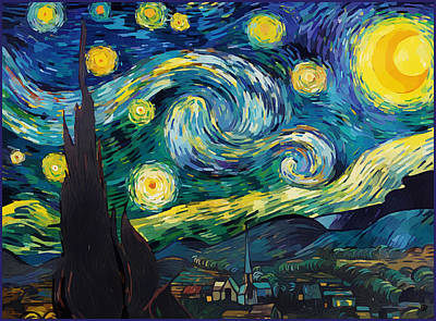 Digital Art - After Starry Night by Gary Grayson