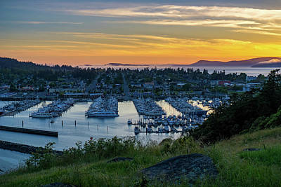 Photograph - After Sunset At The Marina by Ken Stanback