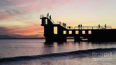 Photograph - After Sunset Blackrock 4 by Peter Skelton