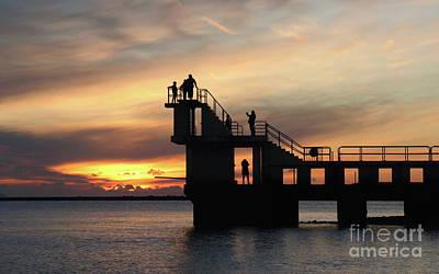 Photograph - After Sunset Blackrock 5 by Peter Skelton