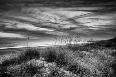 South Carolina Digital Art - After Sunset In B And W by Phill Doherty