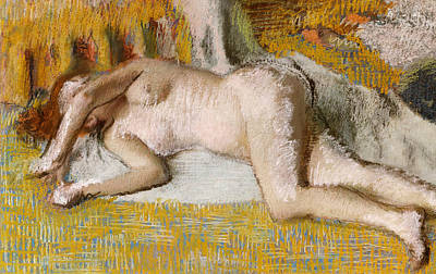 Degas Pastel - After The Bath, 1885 by Edgar Degas