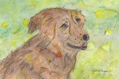 Dog Painting - After The Bath by Elizabeth Briggs