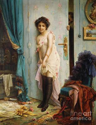 Painting - After The Bath by Hans Zatzka