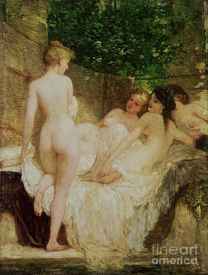 Hungarian Painting - After The Bath by Karoly Lotz