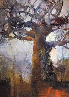 Baobab Painting - After The Burn by Wendy Rosselli