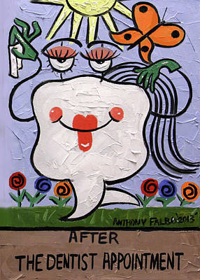 After The Dentist Appointment Art Print