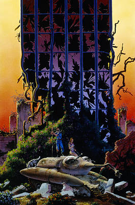 Future City Painting - After The Flames by Richard Hescox