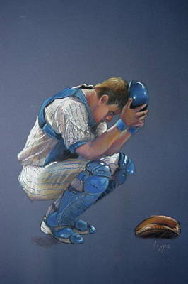 Baseball Pastel Painting - After The Game by Steve Lappe
