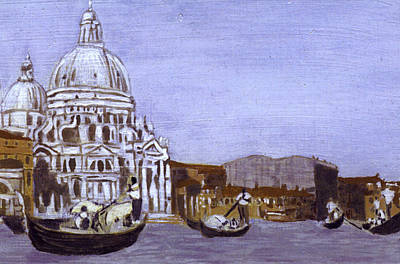 After The Grand Canal And The Church Of The Salute Art Print by Hyper - Canaletto