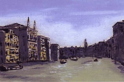 After The Grand Canal From Campo San Vio Near The Rialto Bridge Art Print by Hyper - Canaletto