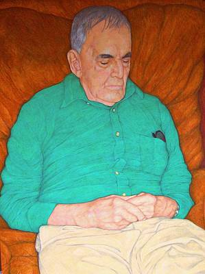 Grandfather Mixed Media - After The Grandchildren Go by Edward Ruth
