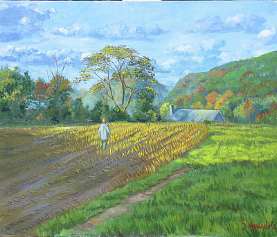 After The Harvest Art Print by Dominique Amendola