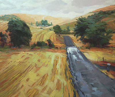 Countryside Painting - After The Harvest Rain by Steve Henderson