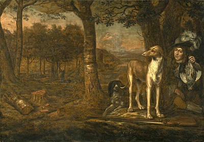 Painting - After The Hunt by Govert Dircksz Camphuysen