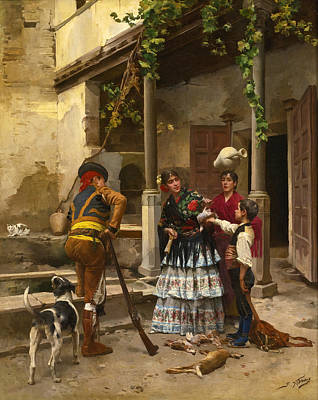 Painting - After The Hunt by Jules Worms