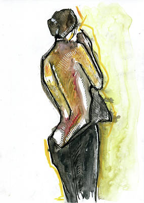 Figure Drawing Painting - After The Party by Rob Tokarz