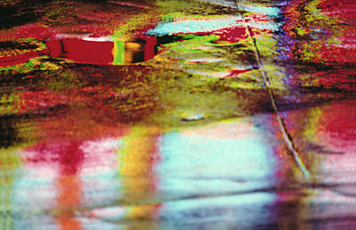After The Rain Abstract 2 Art Print by Tony Cordoza