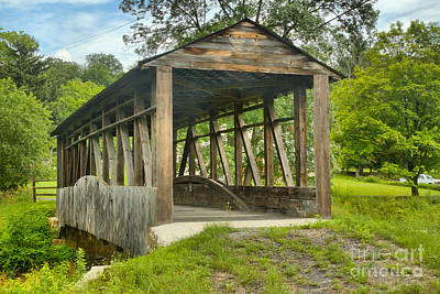 Photograph - After The Rain At Cuppett's Covered Bridge by Adam Jewell