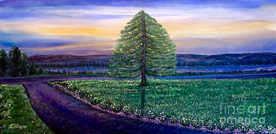 Hearts On Trees Painting - After The Rain Comes The Joy by Kimberlee Baxter