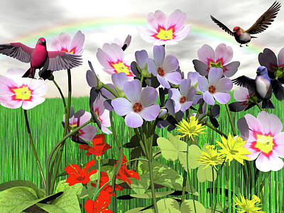 Digital Art - After The Rain Comes The Rainbow by Michele Wilson