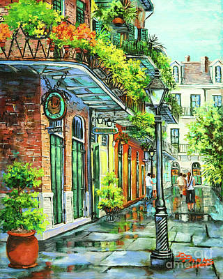 Jackson Square Painting - After The Rain by Dianne Parks
