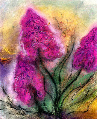 Foxglove Flowers Mixed Media - After The Rain  by Joely  Rogers