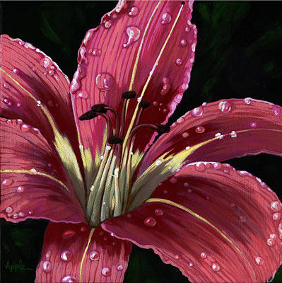 After The Rain - Lily Art Print by Linda Apple