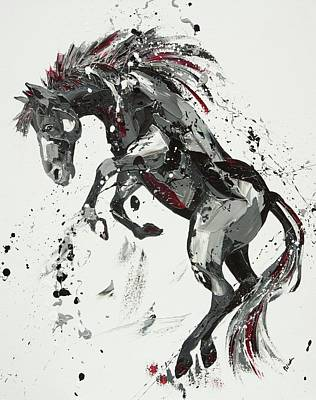 Wild Horse Painting - After The Rain by Penny Warden