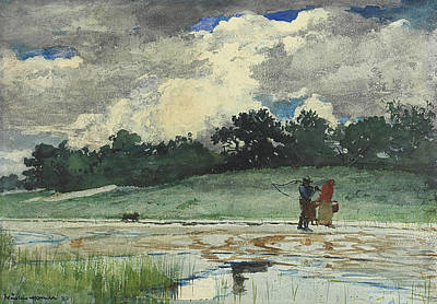 Painting - After The Rain Prouts Neck by Winslow Homer