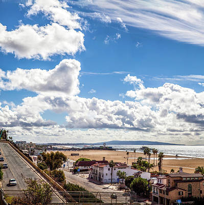 Photograph - After The Rain - Santa Monica - Panorama by Gene Parks