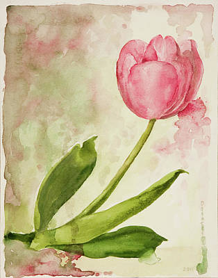 Painting - After The Rain  Tulip 2 by Kathryn Donatelli